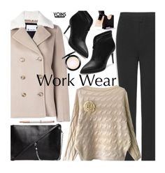 """Yoins Work Wear"" by beebeely-look ❤ liked on Polyvore featuring T By Alexander Wang, Parker, MAC Cosmetics, WorkWear, Sweater, coat, officestyle and yoinscollection"
