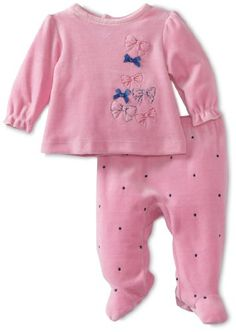 Absorba Baby Two Piece Footed Pant Set, Tied With A Bow, 0-3 Months absorba http://www.amazon.com/dp/B00800A3H2/ref=cm_sw_r_pi_dp_odKtub1EPDS4Q