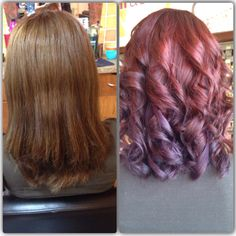 Red and violet hair