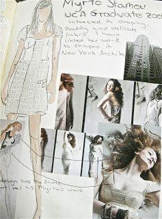 Student Fashion Design Sketchbook