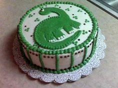 Dinosaur cake for Carter's first birthday