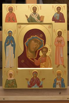 The icon painters of St Elisabeth Convent will paint a family icon of any kind. You can order an Orthodox family icon online from the Catalog of St Elisabeth Convent Religious Images, Religious Icons, Religious Art, Orthodox Icons, Holy Spirit, Catholic, Saints, Religion