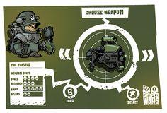 Cartoon war game idea on Behance