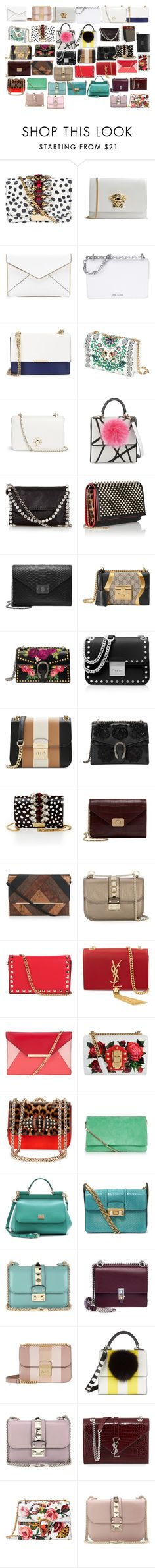 """shoulder bags 2"" by azra-99 ❤ liked on Polyvore featuring GEDEBE, Versace, Rebecca Minkoff, Prada, Ivanka Trump, Tory Burch, Les Petits Joueurs, STELLA McCARTNEY, Christian Louboutin and Mulberry"