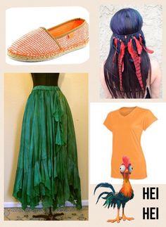 Disney Inspired Outfits, Disney Outfits, Disney Style, Disney Cosplay, Disney Costumes, Heihei Costume, Costume Ideas, Halloween Cosplay, Halloween Costumes