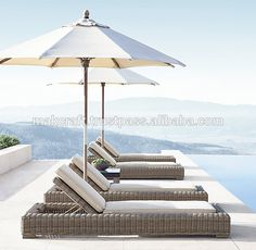 Provence Classic Chaise Lounges from Restoration Hardware Outdoor Pool Furniture, Lawn Furniture, Rattan Furniture, Marmaris, Jacuzzi, Jenner House, Living Pool, Pool Chairs, Swimming Pool Designs
