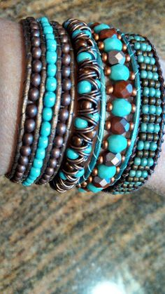 Four different bracelets same color