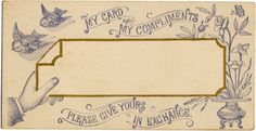 besottment by paper relics: Free Download: My Compliments Card