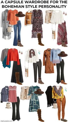 bohemian style - a style guide and capsule wardrobe for women Do you love bohemian style? Then you will love this capsule wardrobe. Here is a style guide and capsule wardrobe for the bohemian style personality. Mode Hippie, Mode Boho, Mode Outfits, Chic Outfits, Fashion Outfits, Girl Outfits, Fashion Clothes, Summer Outfits, Capsule Wardrobe