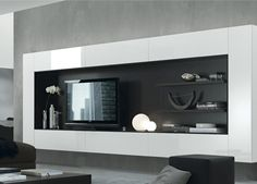 I really like this wall unit design