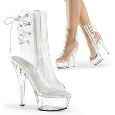 More than 500 styles in stock on exotic dancer shoes, pole dancing shoes, stripper shoes and heels. You can also find lots of sexy platform stilettos here! Clear Ankle Boots, Wedge Ankle Boots, Platform Ankle Boots, Mid Calf Boots, High Heel Boots, Heeled Boots, Platform Wedge, Wedge Sandals, Transparente High Heels