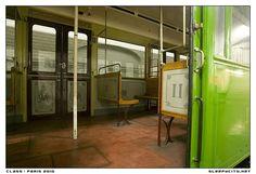 abandoned train in paris metro