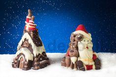 stampo campana di cioccolato decorata 3D, campana di cioccolato per Natale