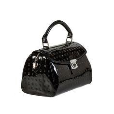 Attavanti - Arcadia Stella Patent Leather Printed Baguette Grab Bag - Black, £165.00 (http://www.attavanti.com/luxury-italian-leather-designer-handbags/arcadia-stella-patent-leather-printed-baguette-grab-bag-black/)