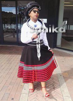 Traditional Xhosa Umbaco Skirts - Sunika Traditional African Clothes African Traditional Wedding Dress, Traditional African Clothing, African Wedding Dress, Latest African Fashion Dresses, African Dresses For Women, African Women, Xhosa Attire, African Attire, Doek Styles