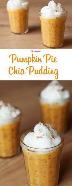 Pie Chia Pudding Our Pumpkin Pie Chia Pudding is naturally gluten-free, full of and contain tons of fiber.Our Pumpkin Pie Chia Pudding is naturally gluten-free, full of and contain tons of fiber. Superfood, Healthy Sweets, Healthy Snacks, Healthy Eating, Healthy Recipes, Pumpkin Recipes, Fall Recipes, Vegan Desserts, Dessert Recipes