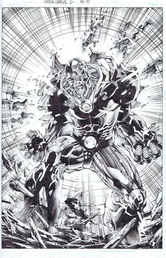 Justice League #6 / Cyborg - Pencil art by Jim Lee