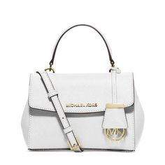 MICHAEL Michael Kors Ava Small Saffiano Leather Satchel White