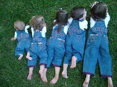 Babies taking a picture together in their Aggie overalls. This would be cute to do with all the Ags in the Monroe family.
