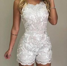 Spaghetti Strap Lace Embroidery Rompers We Miss Moda is a leading Women's Clothing Store. Offering the newest Fashion and Trending Styles. Wedding Rompers, Lace Embroidery, Prom Dresses, Wedding Dresses, Tight Dresses, Shift Dresses, Mermaid Dresses, Mode Inspiration, Fashion Inspiration
