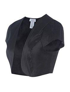 Fashion Secrets Juniors Satin Bolero Cardigan Shrug - http://www.darrenblogs.com/2017/02/fashion-secrets-juniors-satin-bolero-cardigan-shrug/
