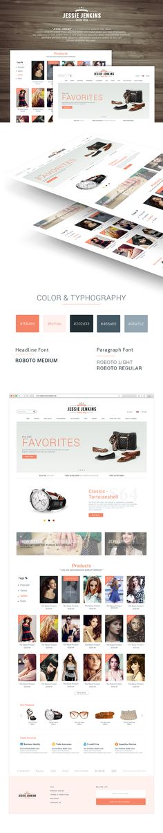 e-commerce web UI design ( Free psd download ) on Behance