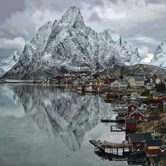 Winter at the dock of Lofoten Islands, Norway - Nature/Landscape Pictures Places Around The World, The Places Youll Go, Places To See, Around The Worlds, Tromso, Beautiful World, Beautiful Places, Beautiful Norway, Wonderful Places