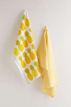 cute pineapple tea towel set