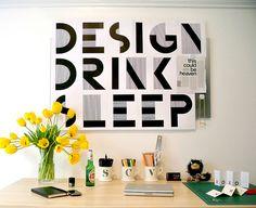 Design, drink, sleep