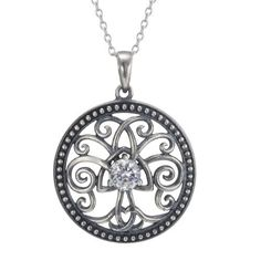 Sterling Silver Simulated Diamond Oxidized Celtic Tree of Life Pendant Necklace, 18 Amazon Curated Collection, http://www.amazon.com/dp/B00AW3QORI/ref=cm_sw_r_pi_dp_fYLrrb1K6RY6D