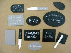 Chalkboard Lables and Placecards How-To