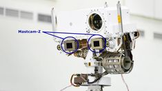 A close-up of the head of Perseverance Rover's remote sensing mast Nasa Photos, Nasa Images, United Launch Alliance, Nasa Moon, Solar System Exploration, Moon Missions, Remote Sensing, Atlas, Operations Management