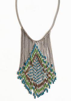 Ricochet Beaded Necklace -- Threadsence: $18