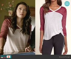 Hollister Sporty Burnout T-shirt worn by Arden Cho on Teen Wolf Teen Wolf Fashion, Teen Wolf Outfits, Fashion Tv, Fashion Outfits, Fashion Design, Arden Cho, Teen Wolf Cast, American Girl, Kimberly Lee