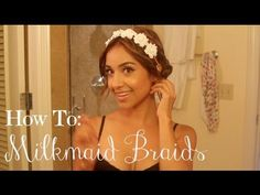 How To  Easy Milkmaid Braids Filmed in Hawaii - http://www.box-of-fashion.com