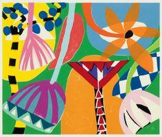 Gillian Ayres RA Tivoli 2011 – Woodcut in 16 colours Alan Cristea Gallery