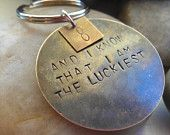 keychain gifts for personalized hand stamped. £15.95, via Etsy.