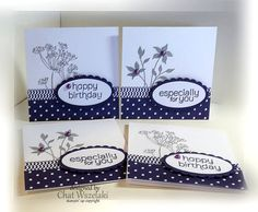 Stampin' Up 3 x 3 Note Cards by nitestamper on Etsy