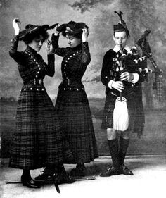 Early female highland sword dancers - from Traditional Clothing of Scottish Women - Read it here: http://www.carolynemerick.com/2/post/2014/05/traditional-clothing-of-scottish-women.html