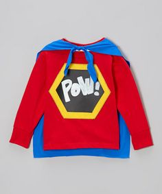 Another great find on #zulily! Red & Yellow Superhero Chalkboard Tee - Toddler & Boys #zulilyfinds