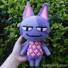 Bob (Animal Crossing) by camilaccd on DeviantArt Big Animals, Sock Animals, Crochet Animals, Bob Animal Crossing, Animal Crossing Characters, Crochet Bob, Homemade Stuffed Animals, Cat Amigurumi, Stuffed Toys Patterns