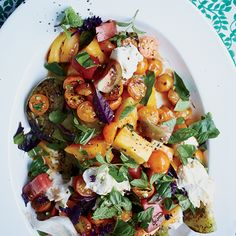 Grilled Tomato Salad with Mozzarella and Unagi Sauce   Chicago chef Stephanie Izard makes the ultimate summer salad with a creamy version of sweet-salty Japanese unagi sauce, which is typically brushed over eel.
