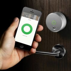 Keyless Smart Lock - Home Technology Home Automation System, Smart Home Automation, Apple Home Automation, Smart Home Security, Home Security Systems, House Security, Security Products, Computer Security, Security Tips