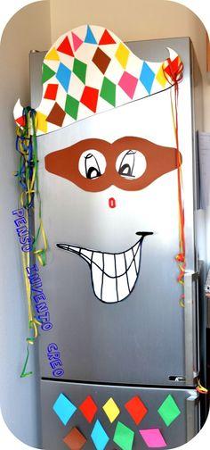 Arlecchino maschera frigo
