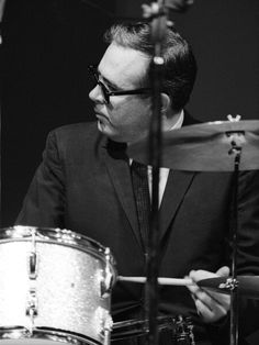 Jazz drummer Joe Morello performs with the Dave Brubeck Quartet in July 1967 at the Newport Jazz Festival in Newport Rhode Island