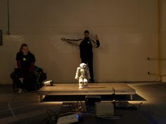 Matej teleoperating Nao Intelligent Technology, Wrestling, Night, Day