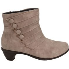 Womens Naot Legend Ankle Boots Gray Leather - ONLY $220.00