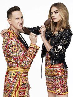 Magnum x Moschino campaign featuring Cara Delevingne & Jeremy Scott