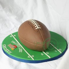 SMASH FOOTBALL CAKE for taiv. Thinking of doing football themed birthday. Missing my lil man.. <3