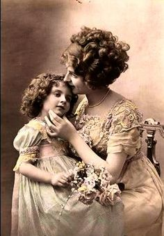 Vintage Photo Mother & Daughter